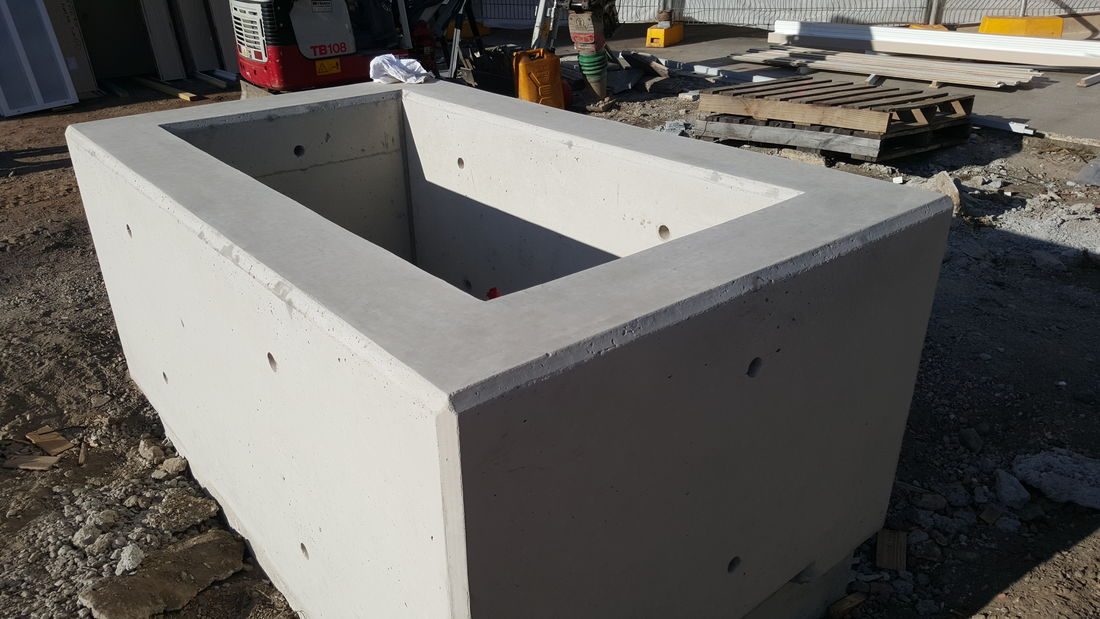 Concrete off Form fire pit at Castle Hill RSL Club